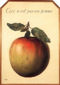 """René Magritte, """"Ceci n'est pas une pomme"""""""